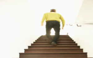 Climb Stairs for a Great At Home Workout